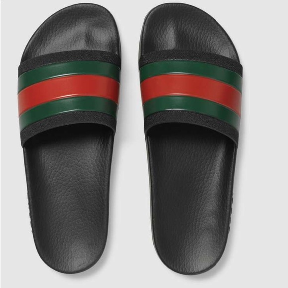 8c436f5e97939e New Gucci Pursuit 72  Black Pool Slide Sandals
